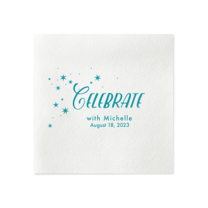 ForYourParty's chic White Luncheon Napkin with Matte Teal/Peacock Foil has a Starry Night graphic and is good for use in Full Bleed themed parties and couldn't be more perfect. It's time to show off your impeccable taste.