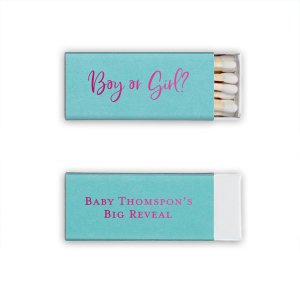 Our custom Poptone Tiffany Blue Lipstick Matchbox with Shiny Fuchsia Foil will give your party the personalized touch every host desires.