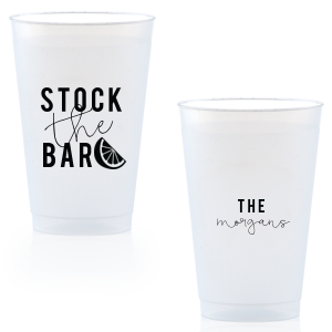 Our custom Matte Black Ink 9 oz Frost Flex Cup with Matte Black Ink Cup Ink Colors has a Lemon Wedge graphic and is good for use in Food, Drinks themed parties and couldn't be more perfect. It's time to show off your impeccable taste.