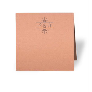 Personalized Poptone Peach Classic Place Card with Matte Navy Foil has a Line Frame graphic and is good for use in Frames themed parties and couldn't be more perfect. It's time to show off your impeccable taste.