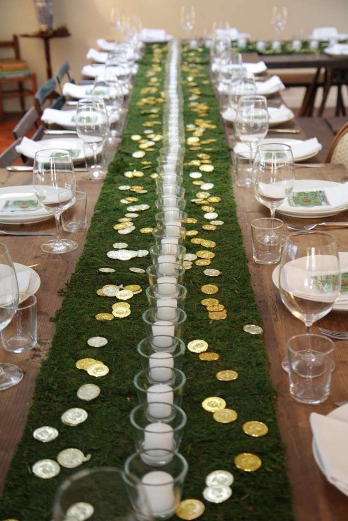 St. Patrick's Day table runner via Apres Fete