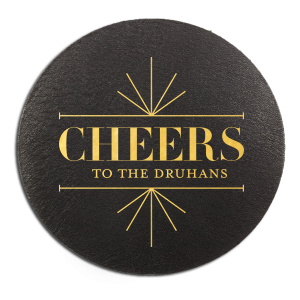 Line Frame Cheers Coaster