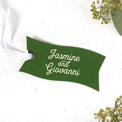 Large Wave Gift Tag