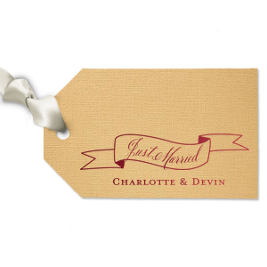 Just Married Banner Tag