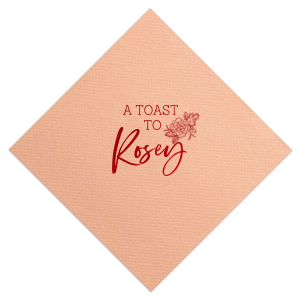 The ever-popular Watercolor Rose Cocktail Napkin with Shiny Convertible Red Foil has a Peony Accent graphic and is good for use in Floral and Special Occasion themed parties and will make your guests swoon. Personalize your party's theme today.