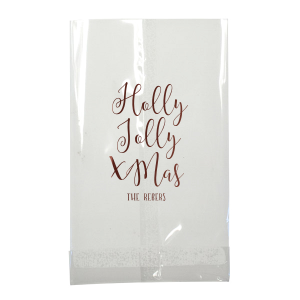ForYourParty's personalized Ivory Party Bag with Shiny Merlot Foil Color will add that special attention to detail that cannot be overlooked.