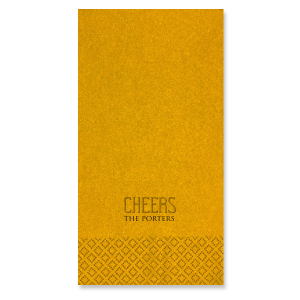 Our personalized Super Gold Shimmer Cocktail Napkin with Matte Black Foil can't be beat. Showcase your style in every detail of your party's theme!