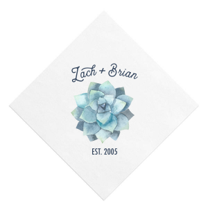 Our beautiful custom White Borderless Photo/Full Color Cocktail Napkin with Matte Navy Ink Digital Print Colors can be personalized to match your party's exact theme and tempo.