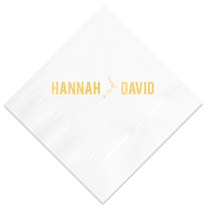 Diagonal Flourish Napkin
