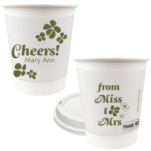 Miss To Mrs Groovy Flower Paper Cup