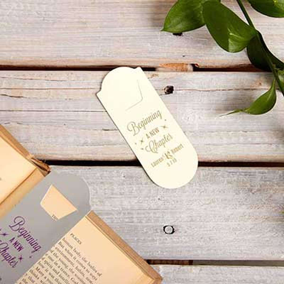 custom rounded bookmark favor