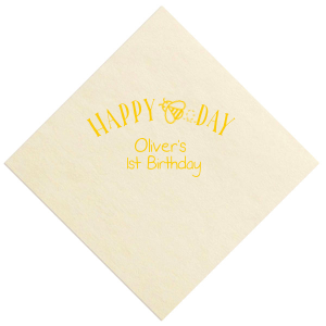 Our beautiful custom Pastel Yellow Cocktail Napkin with Matte Slate Gray Foil has a Bumble Bee graphic and is good for use in Animals, Baby Animals, Baby Shower and Kid Birthday themed parties and will make your guests swoon. Personalize your party's theme today.
