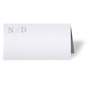 Custom Natural Frost White Classic Place Card with Satin Sterling Silver Foil will look fabulous with your unique touch. Your guests will agree!