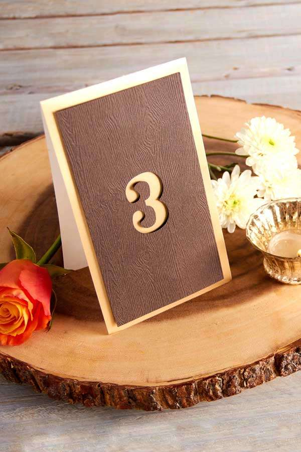pretty wedding table numbers