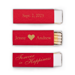 Our Custom Poptone Convertible Red Lipstick Matchbox with Satin 18 Kt. Gold Foil has a Solid Heart graphic and is good for use in Wedding and Anniversary themed parties and will look fabulous with your unique touch. Your guests will agree!