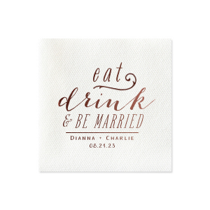 Our custom Marble Blush Cocktail Napkin with Shiny Merlot Foil has a Scroll Accent graphic and is good for use in Accents themed parties and are a must-have for your next event—whatever the celebration!