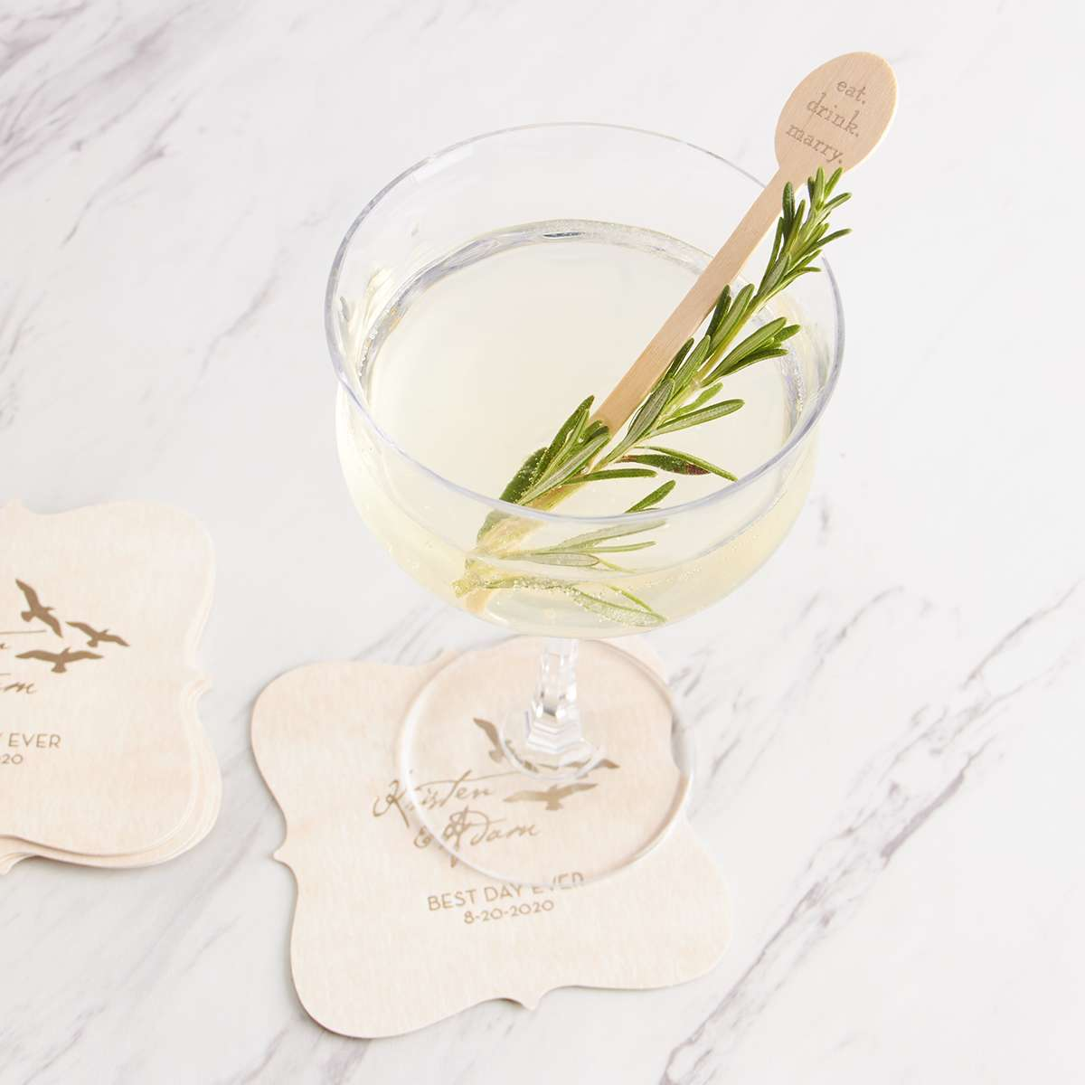 signature cocktail rosemary gimlet
