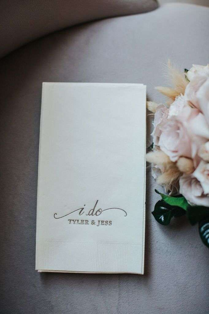 custom designed wedding guest towels