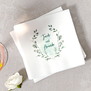 ForYourParty's personalized White Borderless Photo/Full Color Cocktail Napkin with Matte Taupe Ink Digital Print Colors couldn't be more perfect. It's time to show off your impeccable taste.