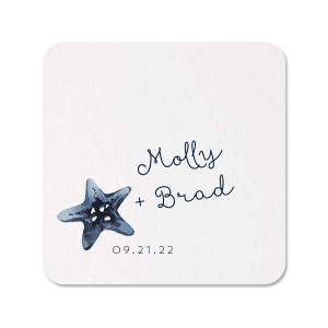The ever-popular White Photo/Full Color Square Coaster with Matte Navy Ink Digital Print Colors will add that special attention to detail that cannot be overlooked.