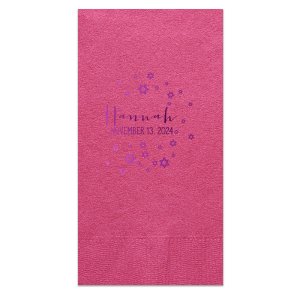 ForYourParty's elegant Fuchsia Cocktail Napkin with Shiny Amethyst Foil has a Star of David Frame graphic and is good for use in Jewish Symbols, Halloween, Frames themed parties and couldn't be more perfect. It's time to show off your impeccable taste.