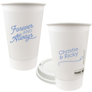 Our beautiful custom 12 oz Paper Coffee Cup with Lid with Matte Periwinkle Ink Color has a Fancy Flourish graphic and is good for use in floral themed parties and couldn't be more perfect. It's time to show off your impeccable taste.
