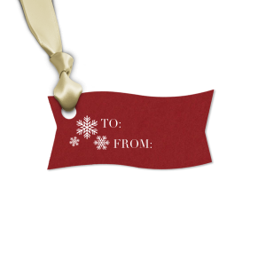 The ever-popular Natural Merlot Rectangle Gift Tag with Matte White Foil has a Snowing graphic and is good for use in Christmas, Holiday, Home themed parties and will make your guests swoon. Personalize your party's theme today.