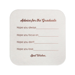 The ever-popular Silver with Black back Deco Coaster with Shiny Merlot Foil will give your party the personalized touch every host desires.