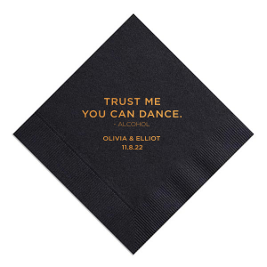 ForYourParty's chic Black Cocktail Napkin with Shiny Rose Gold Foil Color will give your party the personalized touch every host desires.