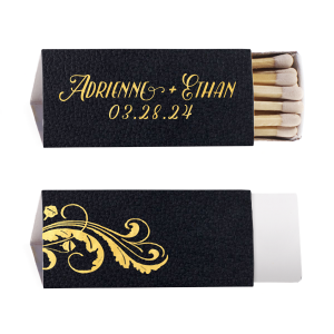 Our custom Stardream Eggplant Lipstick Matchbox with Shiny 18 Kt Gold Foil has a Oak graphic and is good for use in Hello!Lucky themed parties and can be personalized to match your party's exact theme and tempo.