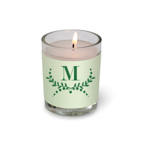 Branch Monogram Votive Candle