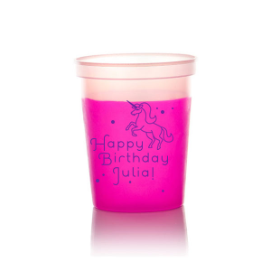 Unicorn Dots Birthday Stadium Cup