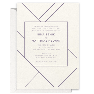 Our personalized Lettra Pearl White 110lb Letterpress Invitation with Slate Ink Letterpress Inks can't be beat. Showcase your style in every detail of your party's theme!