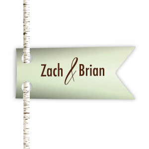 ForYourParty's elegant Poptone Mint Double Point Straw Tag with Matte Chocolate Foil can be personalized to match your party's exact theme and tempo.