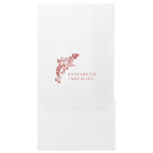 ForYourParty's personalized Shiny Rose Quartz Small Cellophane Bag with Shiny Rose Quartz Foil has a Rustic Floral Accent 2 graphic and is good for use in Accents, Wedding, Anniversary themed parties and can be customized to complement every last detail of your party.