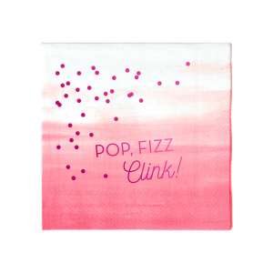 Our custom Fuchsia Cocktail Napkin with Shiny 18 Kt Gold Foil has a Full Bleed Confetti graphic and is good for use in Full Bleed themed parties and will give your party the personalized touch every host desires.