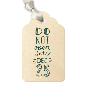 ForYourParty's chic Glitter Gold Luggage Gift Tag with Matte Spruce Foil has a Do Not Open graphic and is good for use in Christmas, Holiday, Words themed parties and couldn't be more perfect. It's time to show off your impeccable taste.