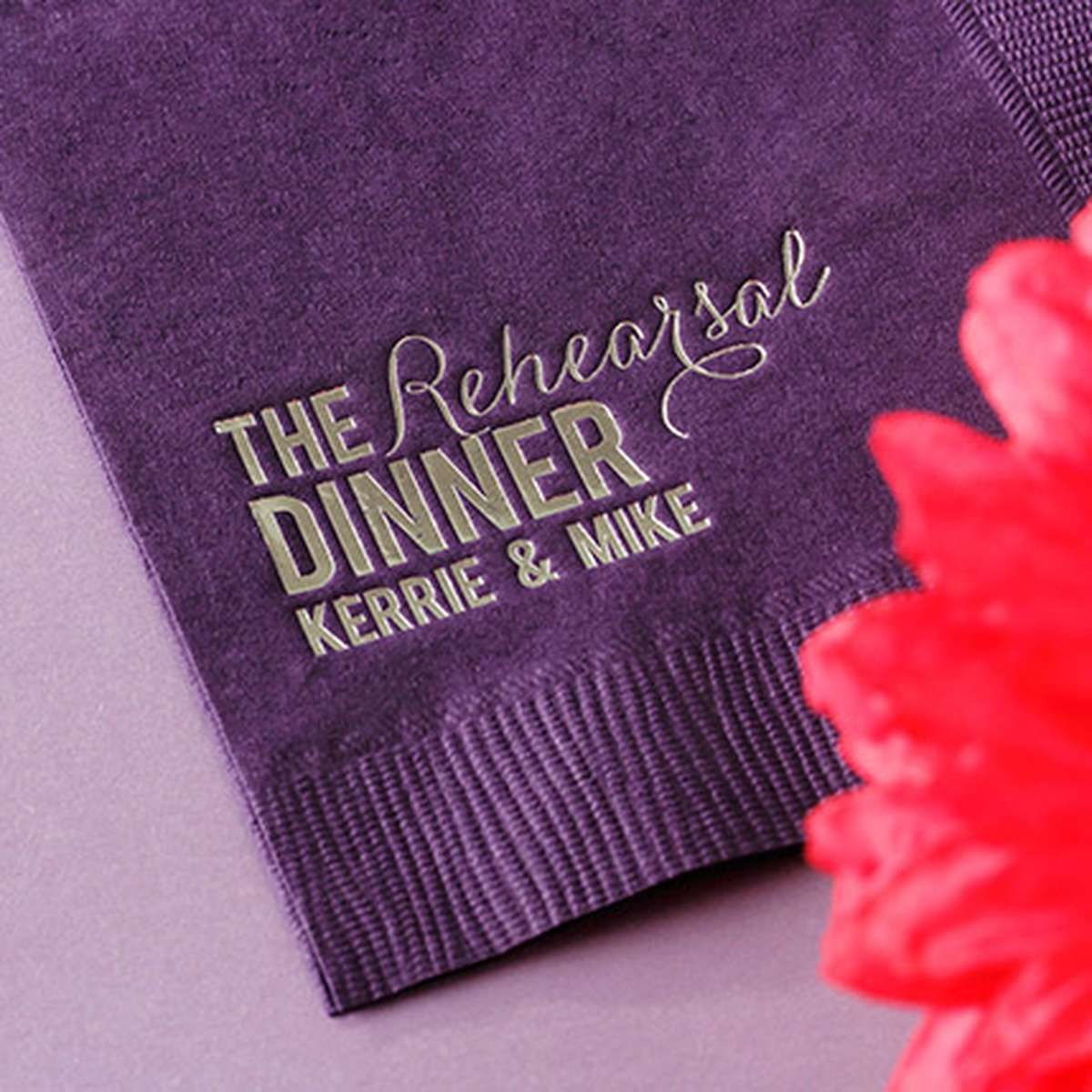 Personalized Wedding Dinner Napkin