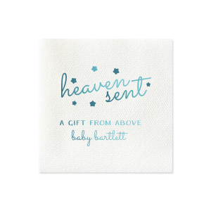 Our personalized Watercolor Ocean Cocktail Napkin with Matte White Foil will add that special attention to detail that cannot be overlooked.