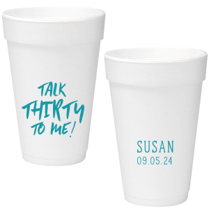Personalized Matte Teal/Peacock Ink 12 oz Styrofoam Cup with Matte Teal/Peacock Ink Cup Ink Colors couldn't be more perfect. It's time to show off your impeccable taste.