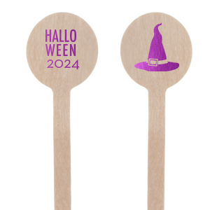 Our personalized Shiny Amethyst Rectangle Stir Stick with Shiny Amethyst Foil has a Witch's Hat graphic and is good for use in Halloween themed parties and will make your guests swoon. Personalize your party's theme today.