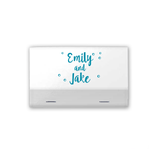 Customize these Silver matchbooks featuring our trendy hand lettered font for a personalized wedding favor guests will adore. They'll think of the happy couple with every use!