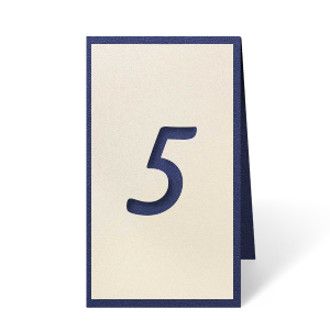 ForYourParty's personalized Stardream Navy Euro Table Number can't be beat. Showcase your style in every detail of your party's theme!