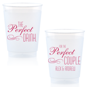 Personalized Matte Fuchsia Ink 14 oz Frost Flex Cup with Matte Fuchsia Ink Cup Ink Colors has a Flourish 5 graphic and couldn't be more perfect. It's time to show off your impeccable taste.