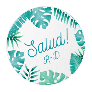 Tropical Salud! Photo/Full Color Coaster