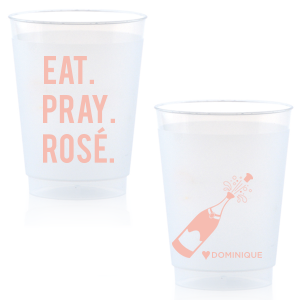 Our personalized Matte Pastel Pink Ink 10 oz Frost Flex Cup with Matte Pastel Pink Ink Cup Ink Colors has a Champagne Bottle graphic and is good for use in Drinks, Wedding themed parties and will impress guests like no other. Make this party unforgettable.
