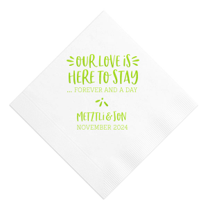Here To Stay Napkin