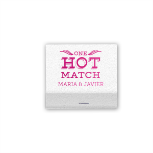The ever-popular Amethyst Shimmer 30 Strike Matchbook with Matte White Foil Color has a One Hot Match graphic and is good for use in Words, Wedding, Anniversary themed parties and will impress guests like no other. Make this party unforgettable.