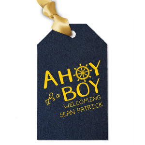 Ahoy It's A Boy Gift Tag