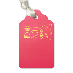 ForYourParty's elegant Shiny Fuchsia Luggage Gift Tag with Shiny 18 Kt Gold Foil has a For You graphic and is good for use in Words, Holiday, Christmas themed parties and will impress guests like no other. Make this party unforgettable.